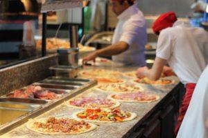 italienische Speisen am Buffet