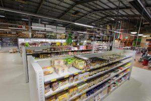 italienische Lebensmittel im Supermarkt